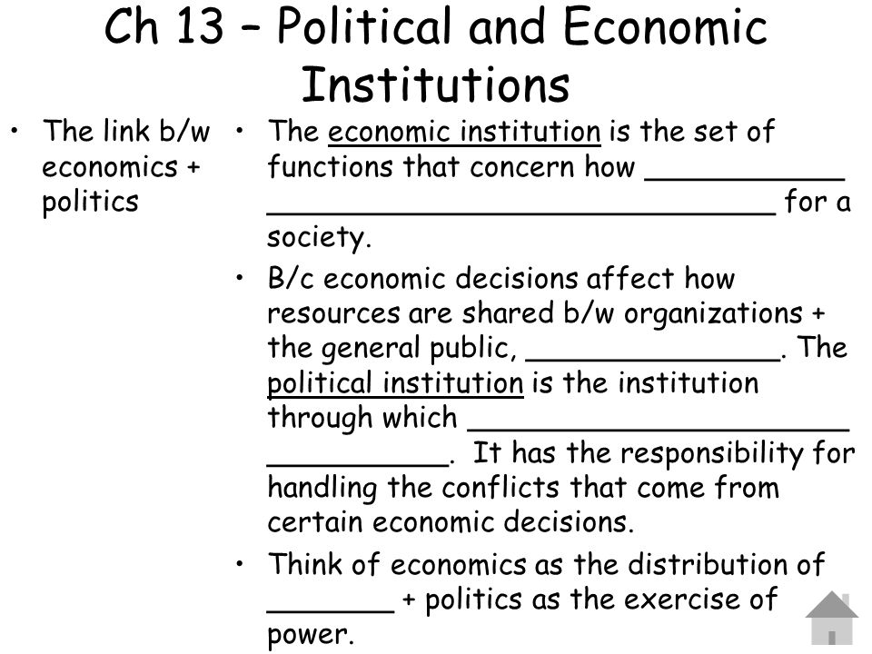 Ch 13 – Political and Economic Institutions