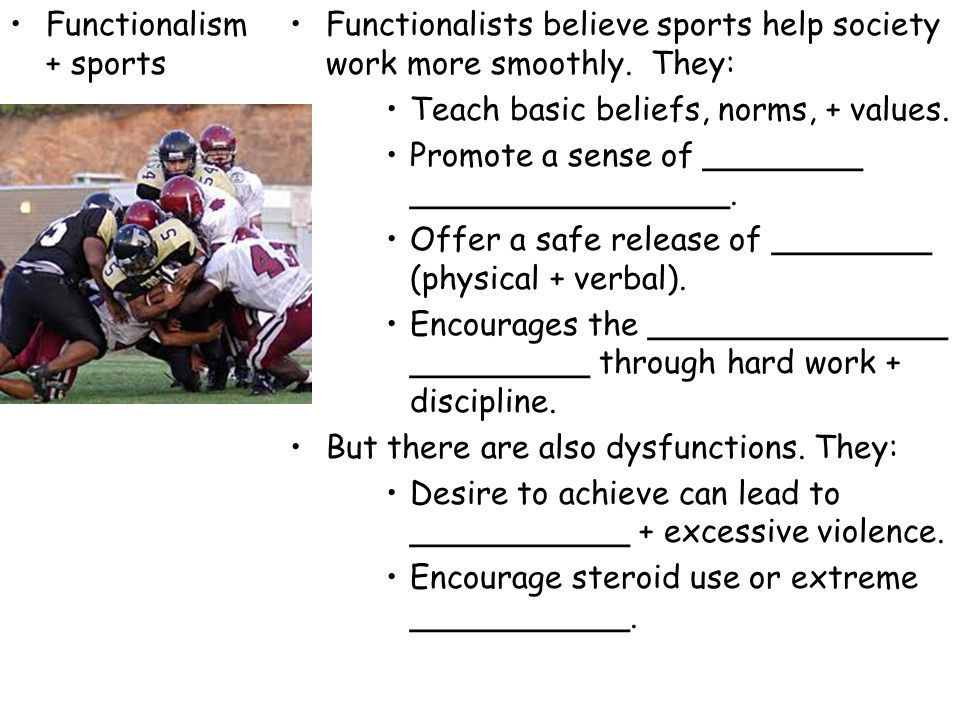 Functionalism + sports
