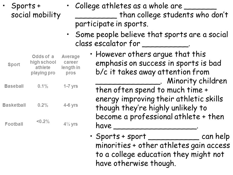 Sports + social mobility