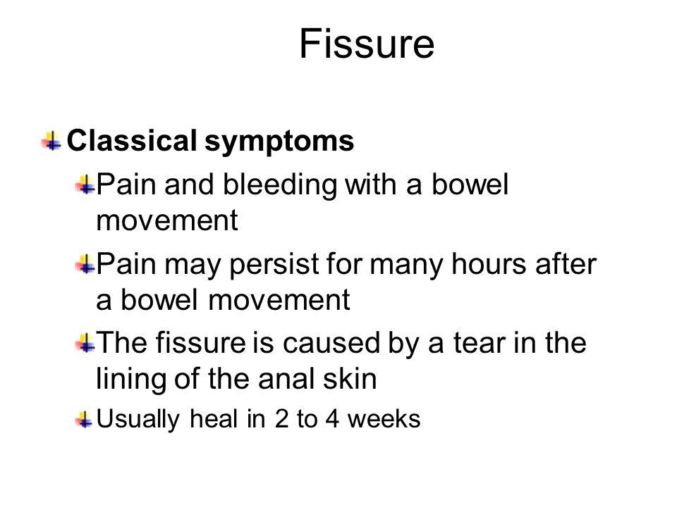 Rectal bleeding after large bowel movement-9587