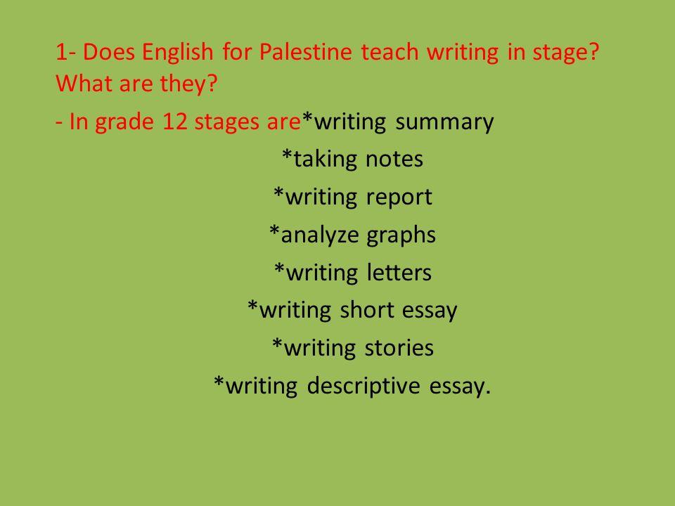descriptive essay about palestine