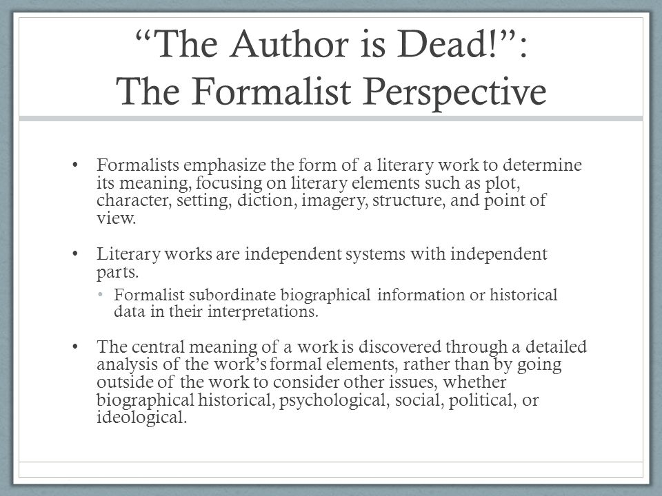 THE AUTHOR IS DEAD PDF DOWNLOAD