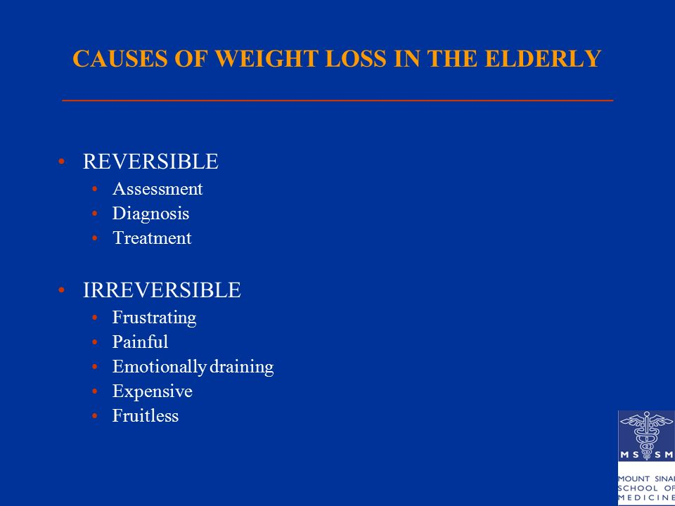 Involuntary Weight Loss In The Elderly Ppt Download