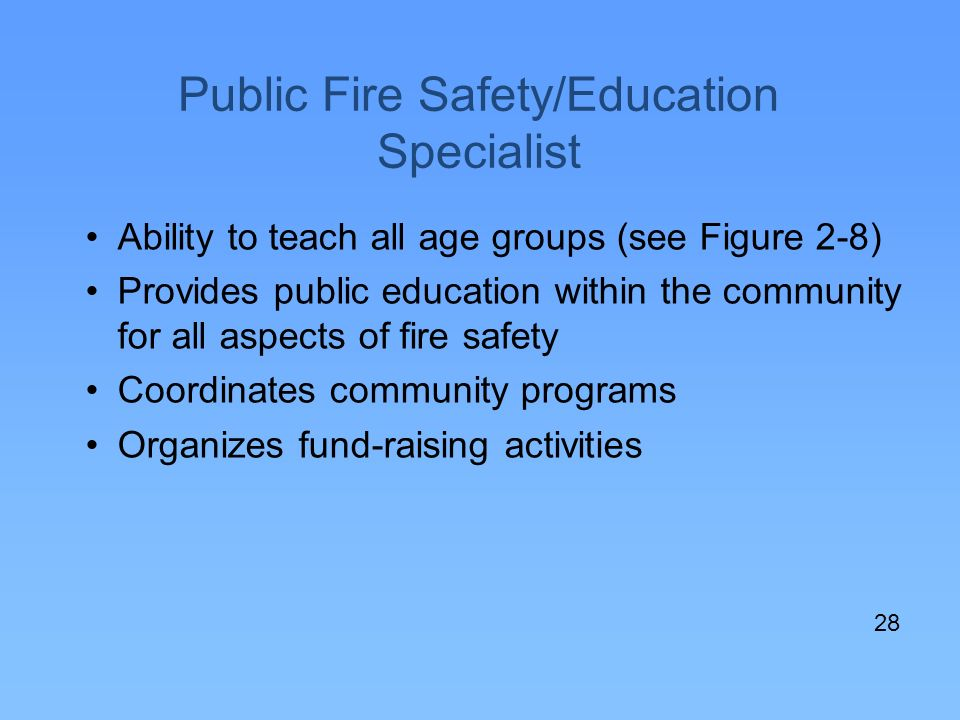 Public Fire Safety/Education Specialist