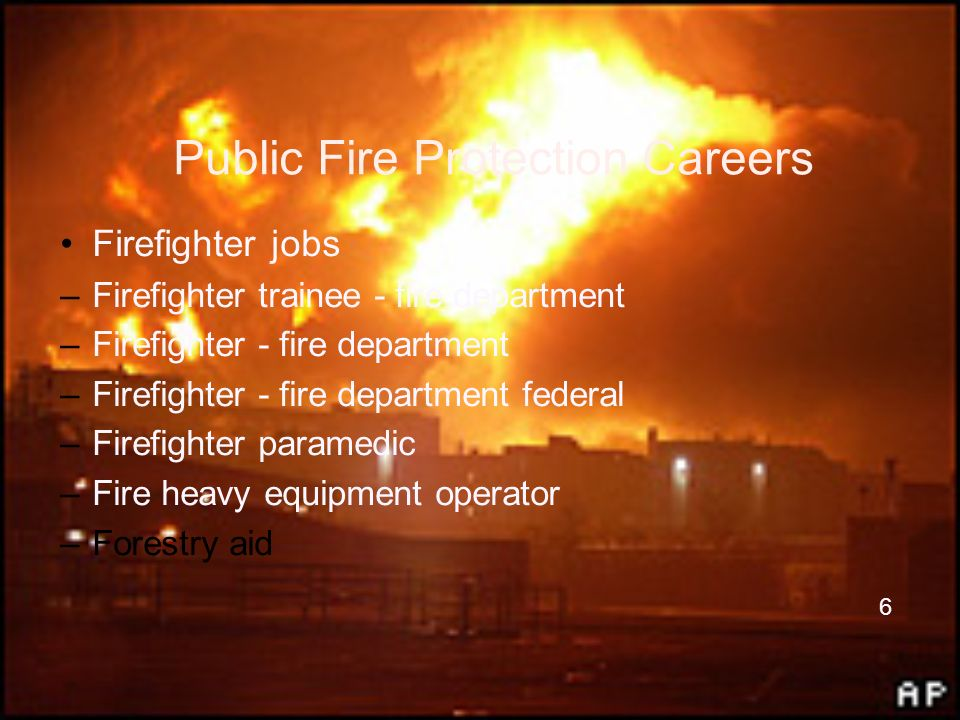 Public Fire Protection Careers
