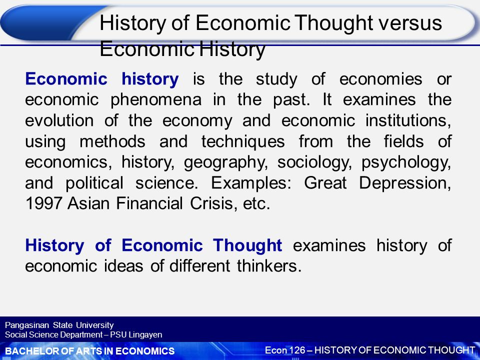 HISTORY OF ECONOMIC IDEAS PDF DOWNLOAD