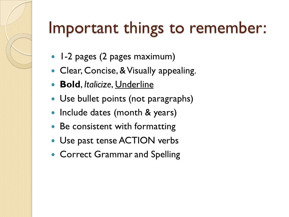 resume writing today s workshop will include purpose of a resume