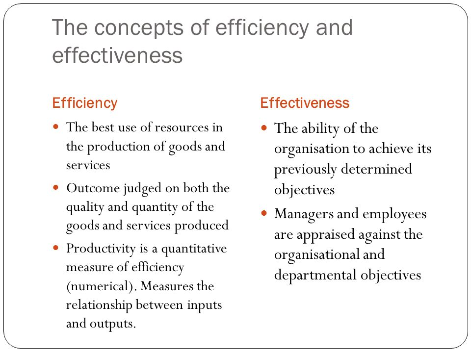 difference between efficiency and effectiveness in management