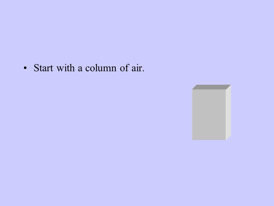 Start with a column of air.