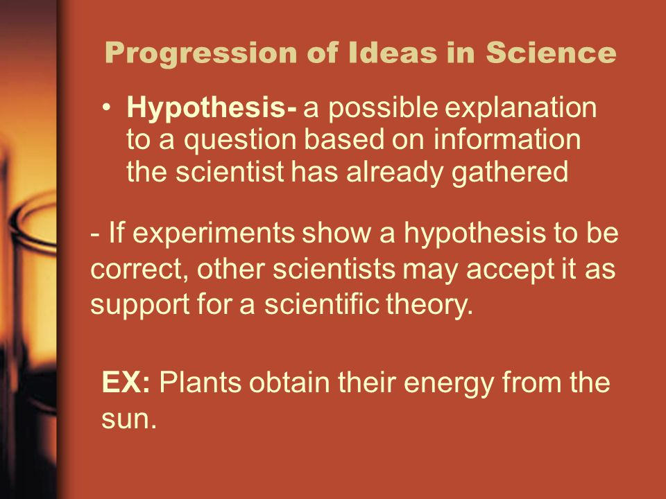 Progression of Ideas in Science
