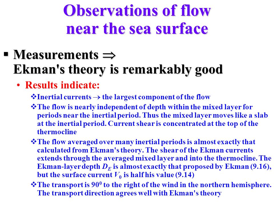 Observations of flow near the sea surface