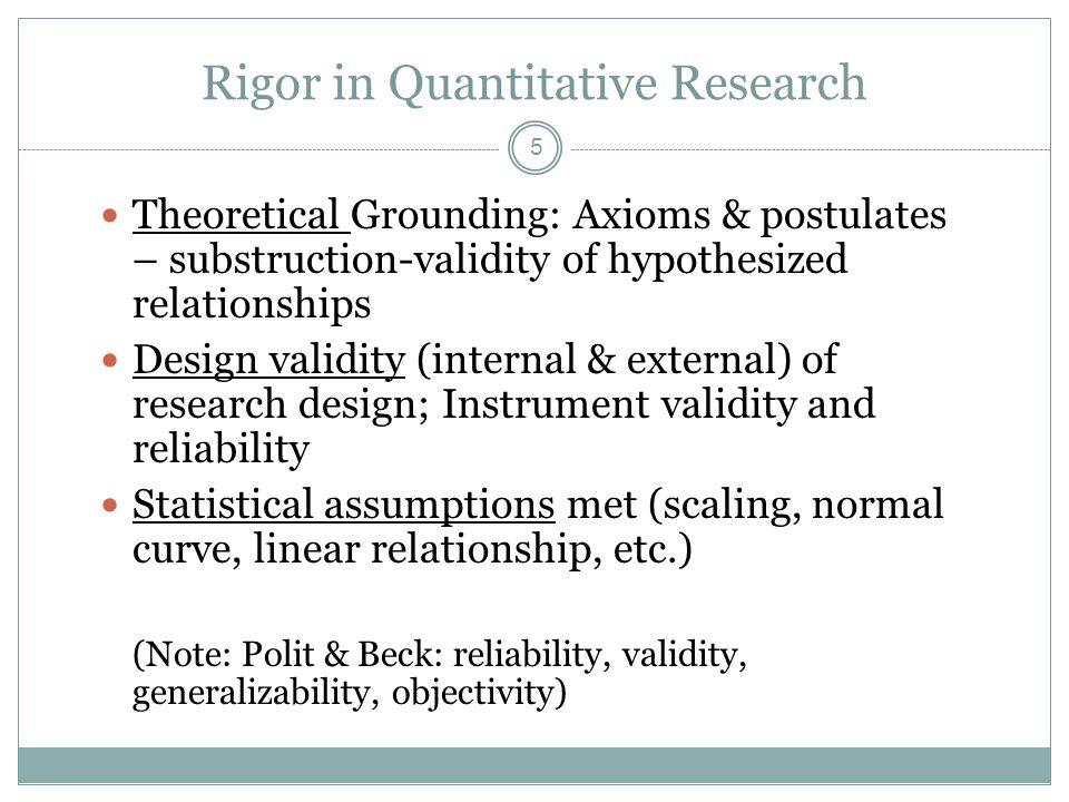 quantitative validity