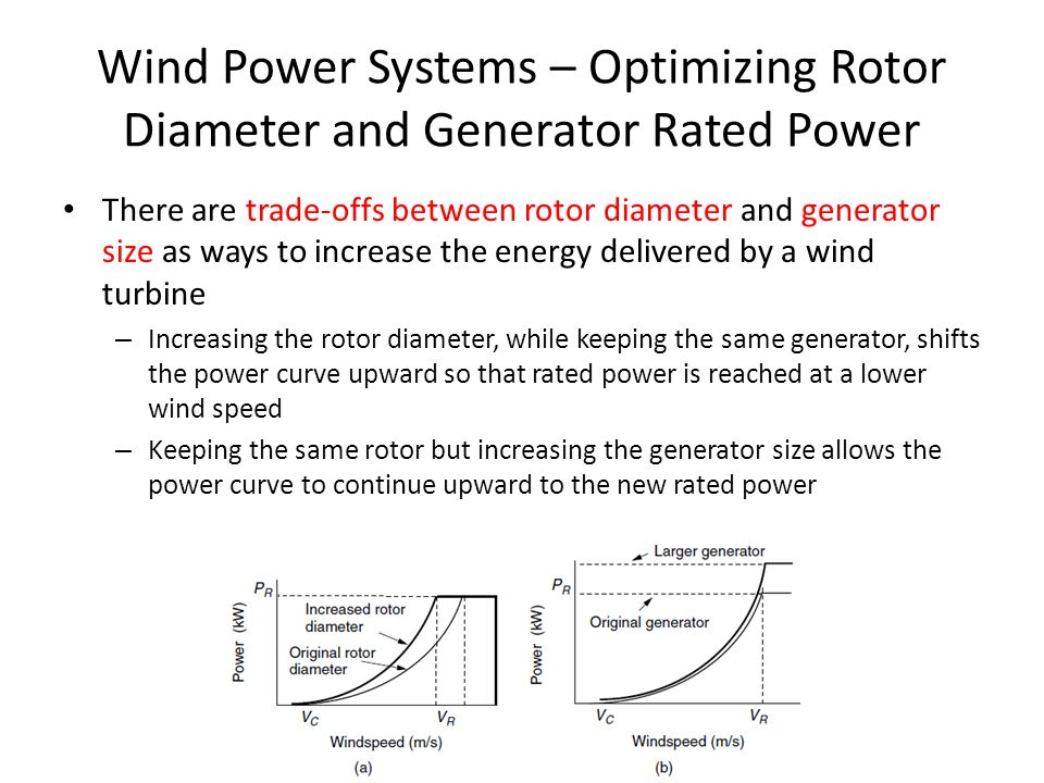 Wind Power Systems – Optimizing Rotor Diameter and Generator Rated Power
