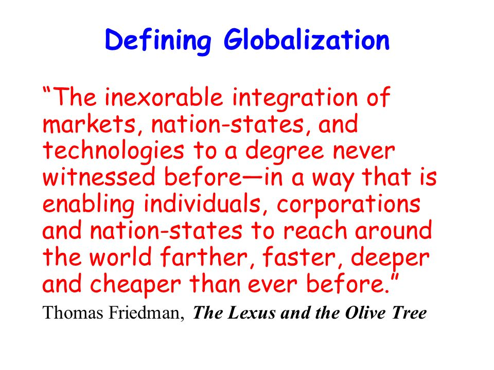 globalization definition