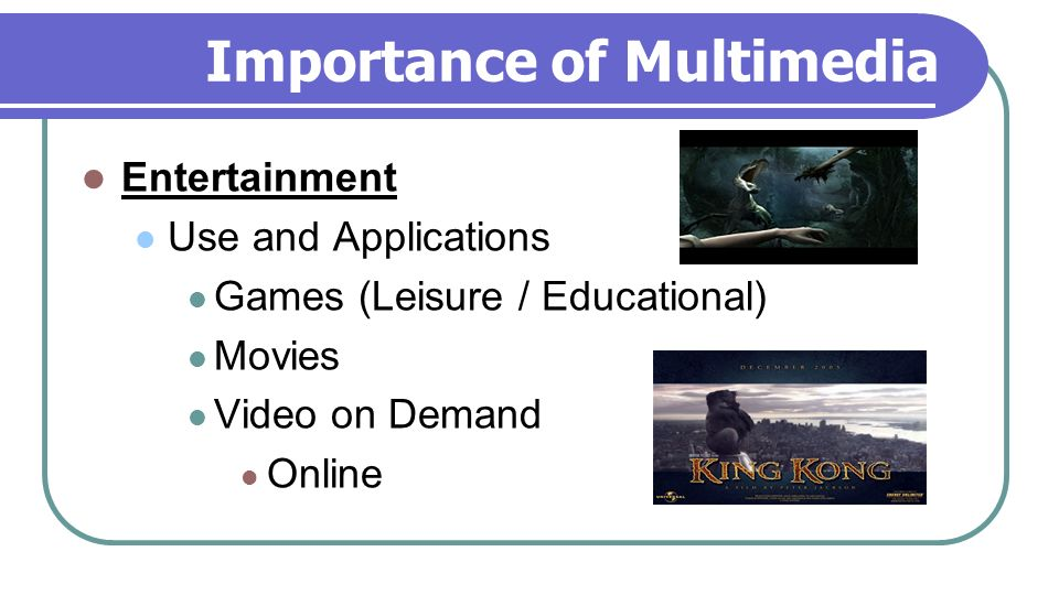 what is the importance of multimedia