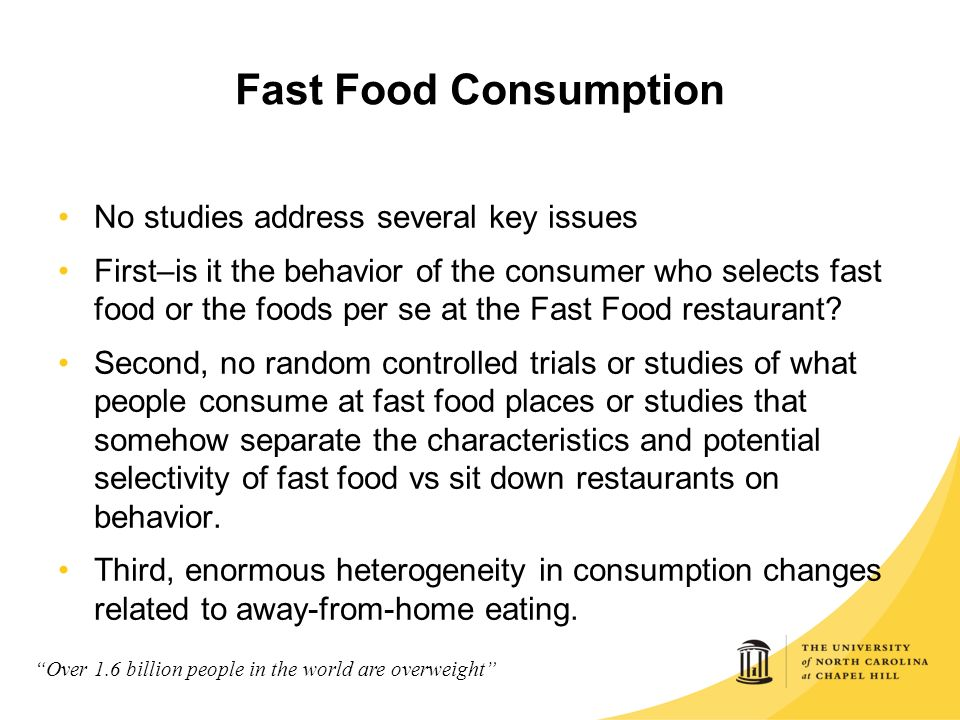 Fast Food Health Issues Ppt
