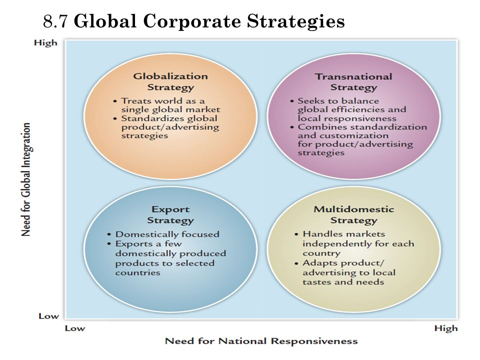 8.7 Global Corporate Strategies