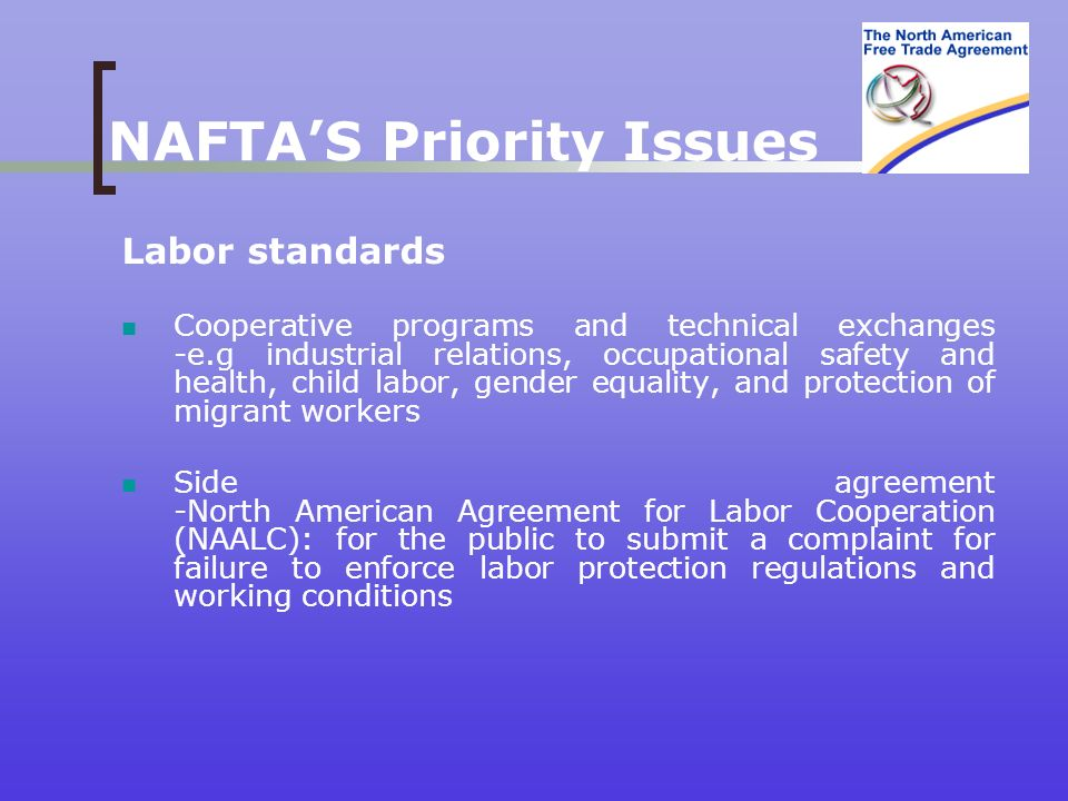 an introduction to north american free trade agreement nafta On january 1, 1994, the north american free trade agreement (nafta) between the united states, canada, and mexico entered force to create a since its entry into force, nafta has eliminated most tariff and non-tariff barriers for trade and investment between its three member countries.