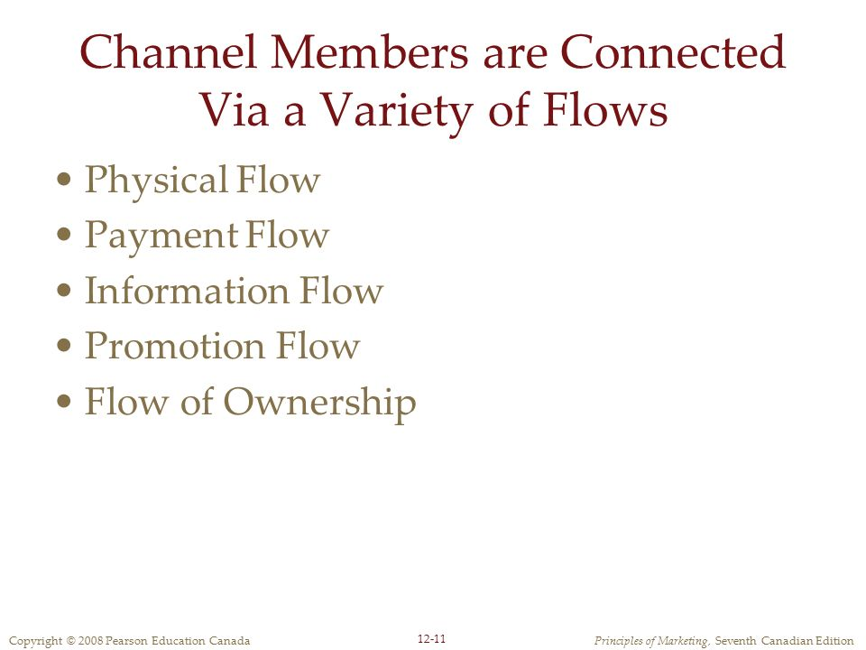 Channel Members are Connected Via a Variety of Flows