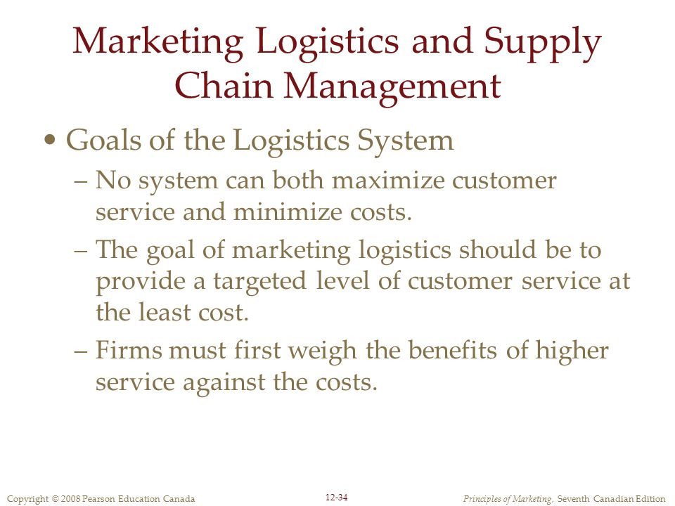 Marketing Logistics and Supply Chain Management