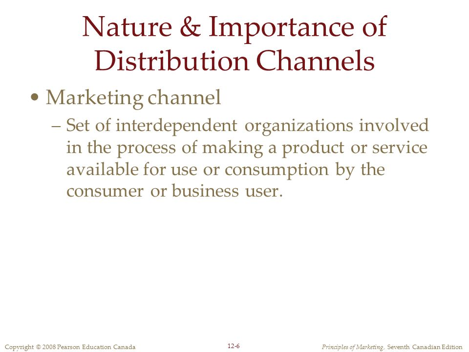 Nature & Importance of Distribution Channels