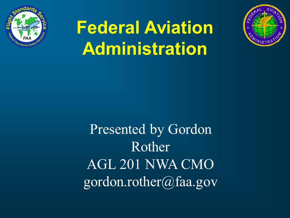 federal aviation administration - ppt video online download