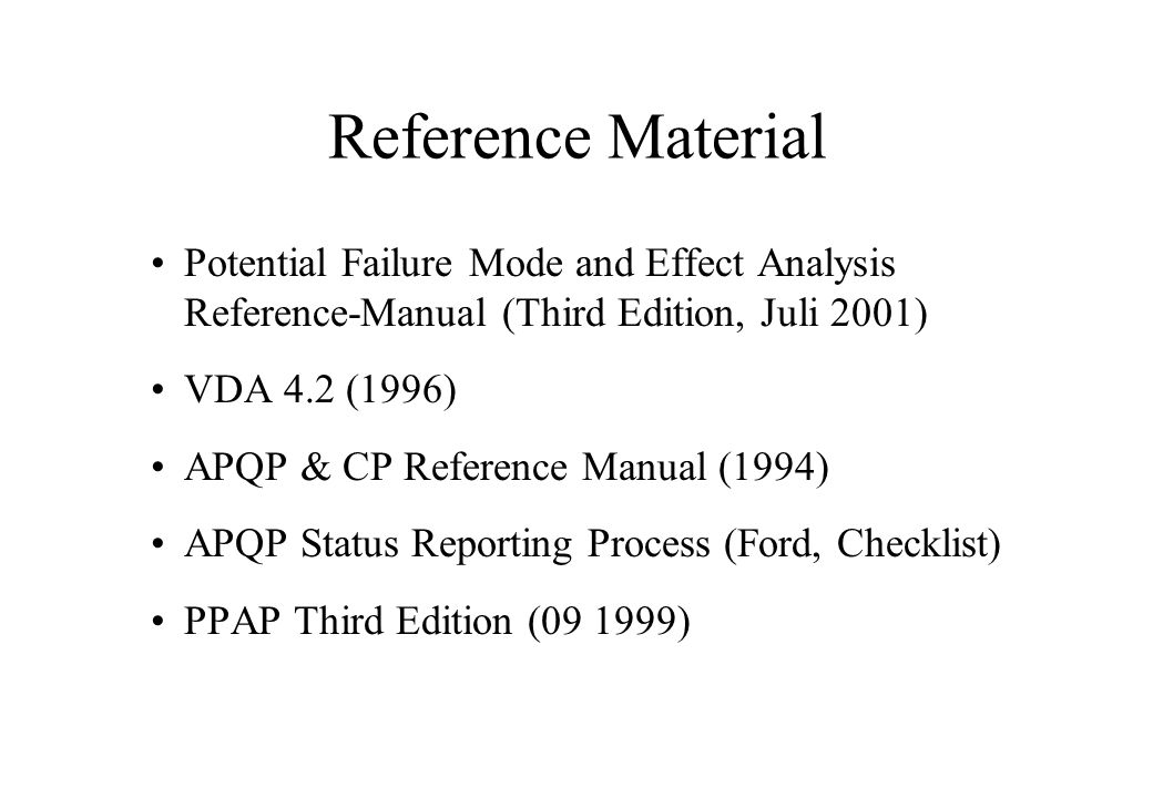 fmea potential failure mode and effects analysis ppt video online rh slideplayer com Reference Manual Icon Reference Manual Icon