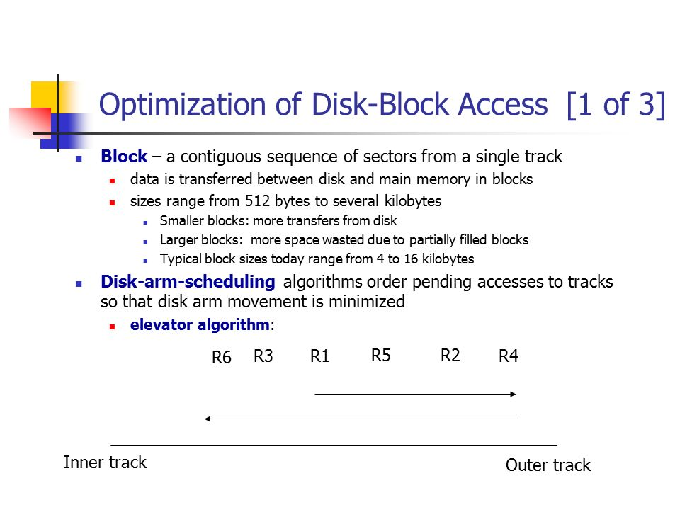 Optimization of Disk-Block Access [1 of 3]