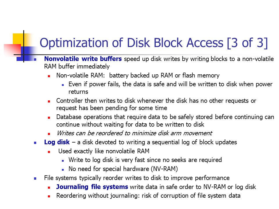 Optimization of Disk Block Access [3 of 3]