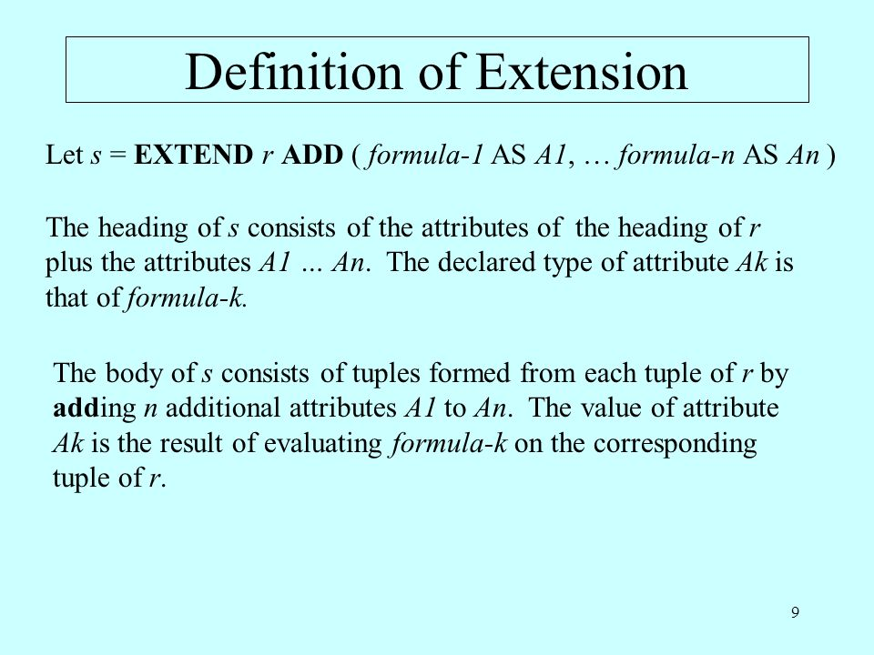 Definition of Extension