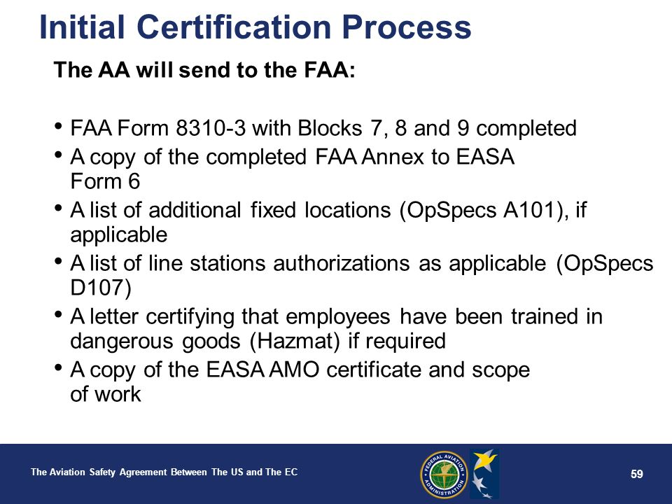 Aviation Safety Agreement Between The United States and The