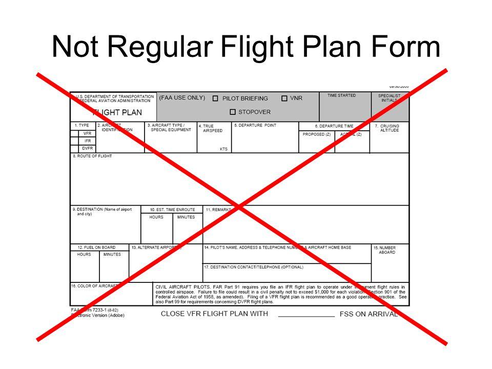 ifr Flight Plan form