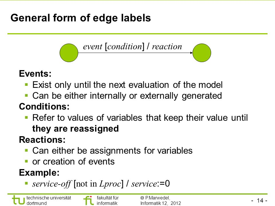 General form of edge labels