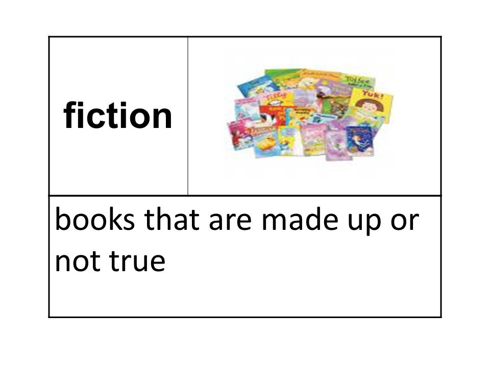 fiction books that are made up or not true
