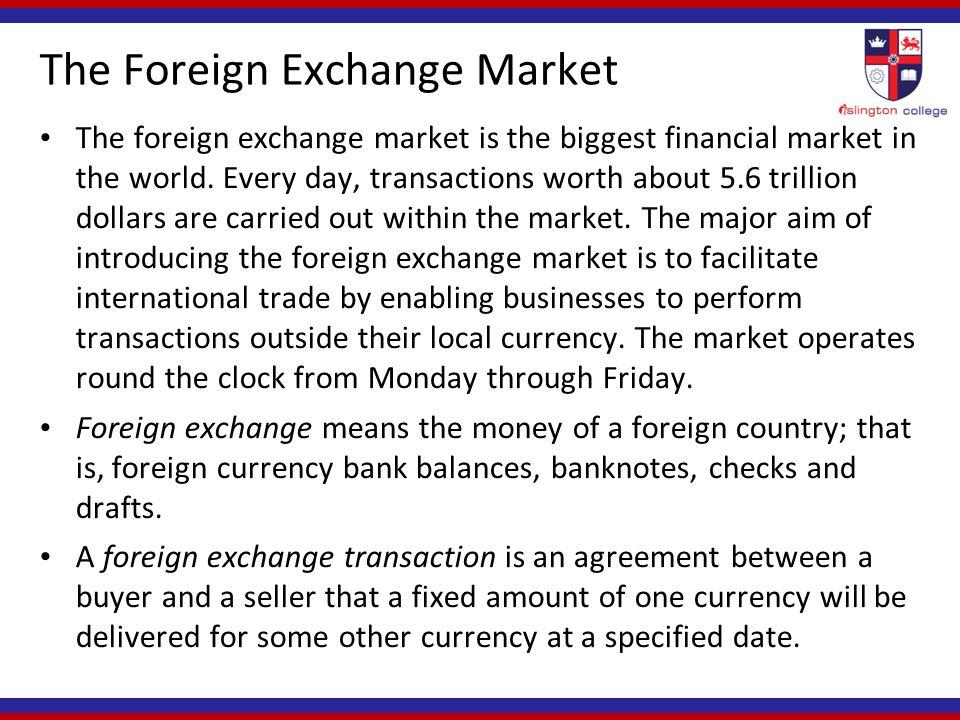Foreign Exchange Market Ppt