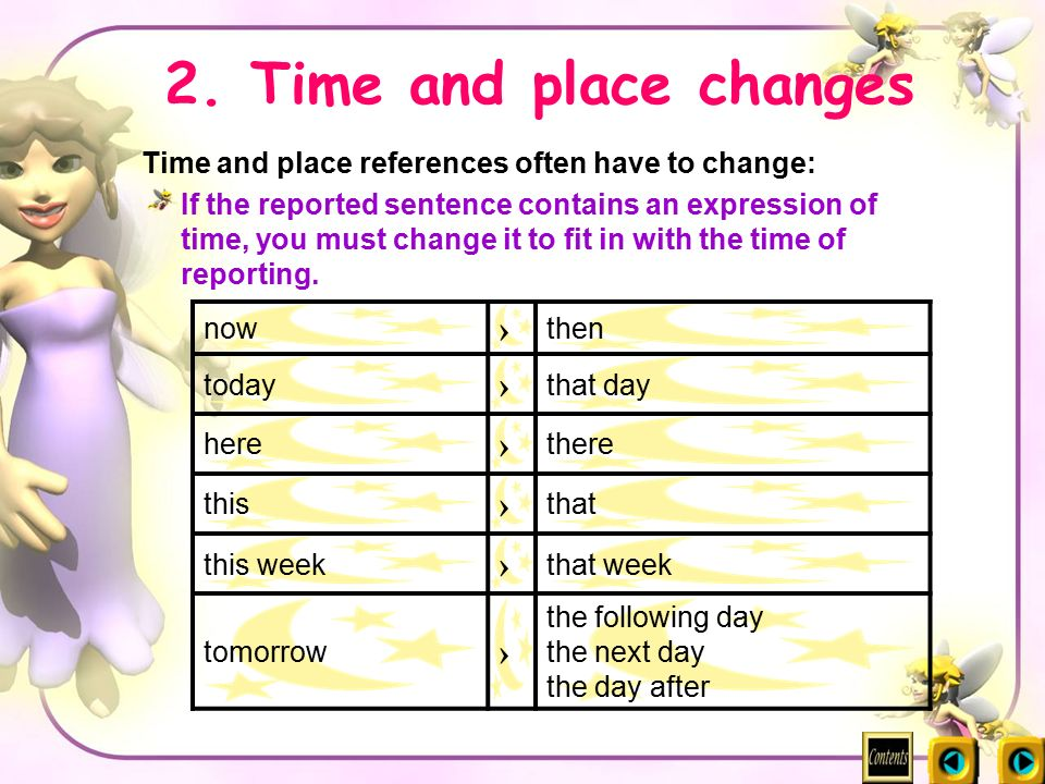 2. Time and place changes ›
