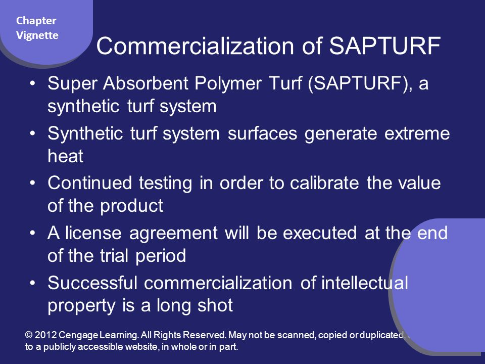 Commercialization of SAPTURF