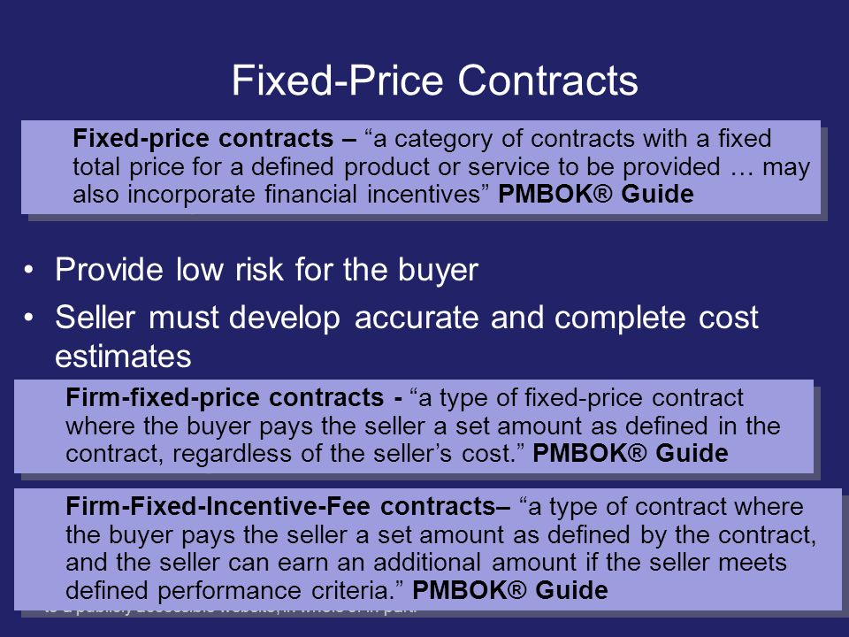 Fixed-Price Contracts