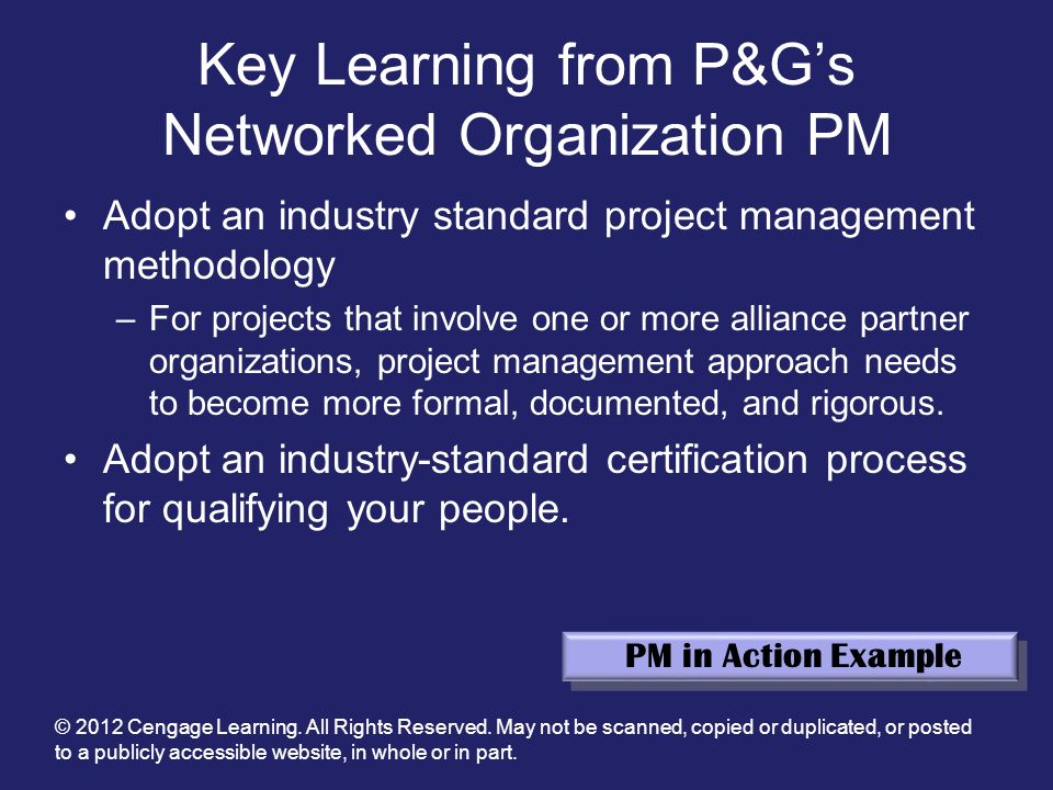 Key Learning from P&G's Networked Organization PM