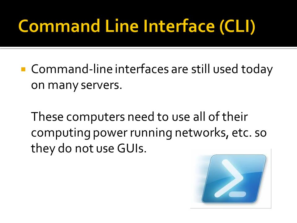 Command Line Interface (CLI)