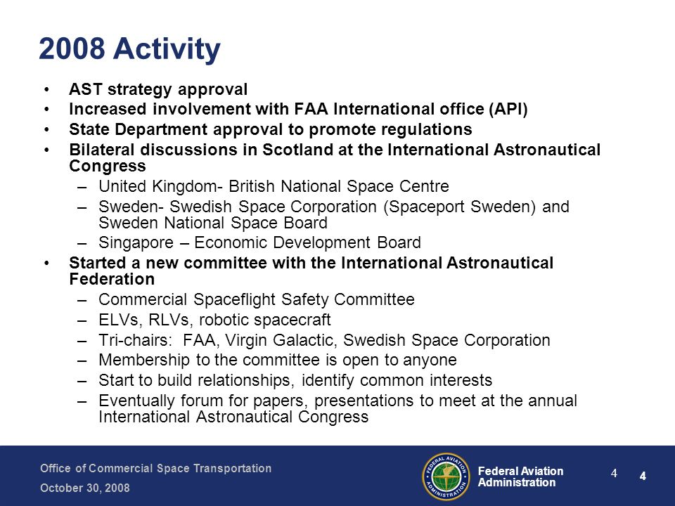 2008 Activity AST strategy approval
