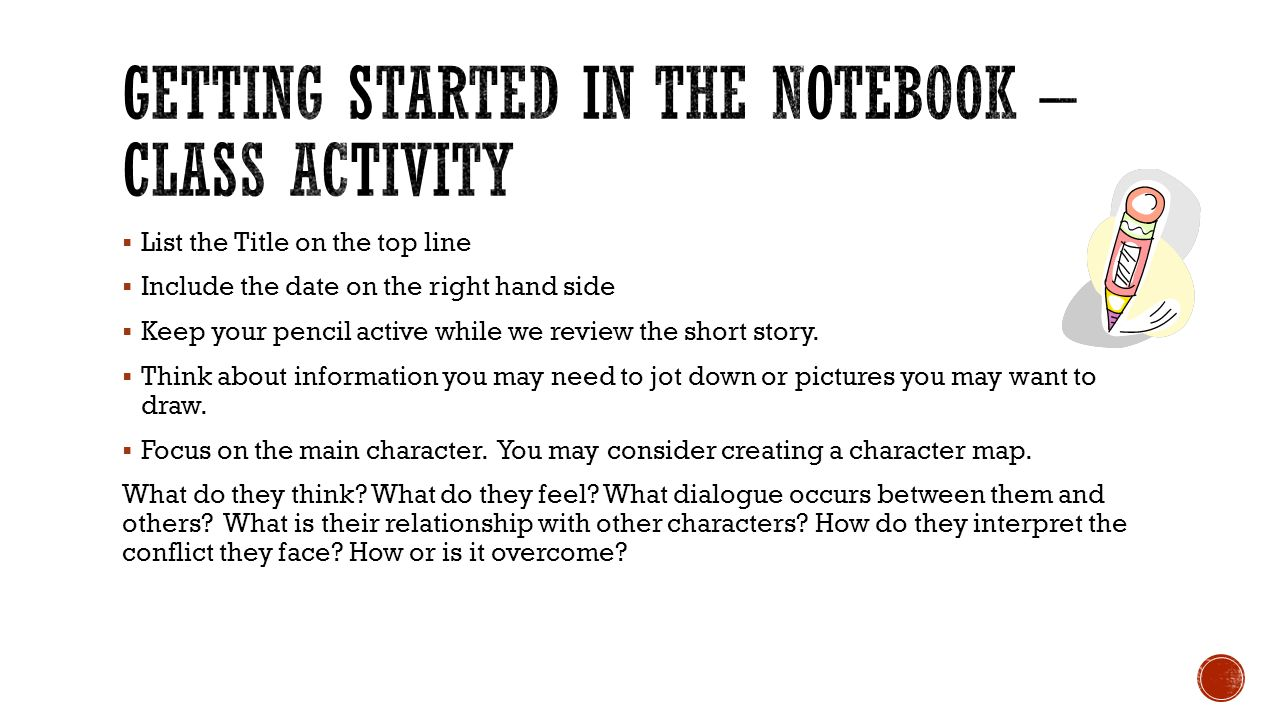 Getting Started In the Notebook – Class Activity