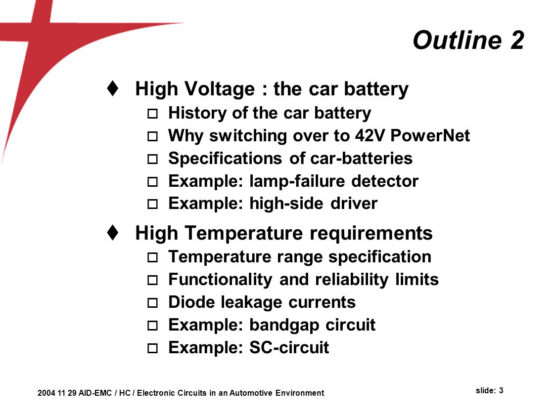 Automotive Environment Herman Casier Ami Semiconductor Belgium Ppt History Of Integrated Circuit Quality 3 Outline