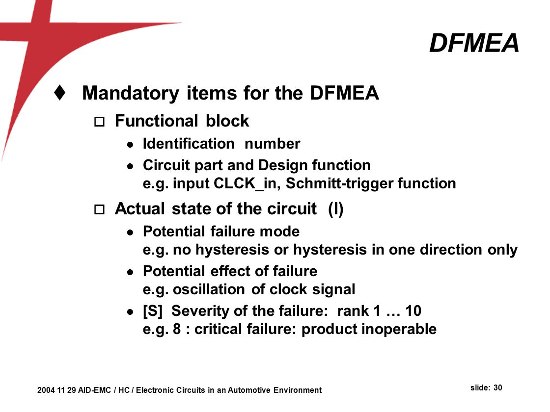 Automotive Environment Herman Casier Ami Semiconductor Belgium Ppt Connect Circuit Is Functionally Identical To A Dump Load Dfmea Mandatory Items For The Functional Block