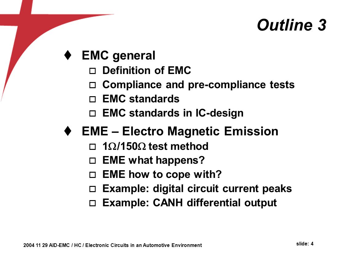 Automotive Environment Herman Casier Ami Semiconductor Belgium Ppt Example Of Electronic Circuit Design 4 Outline