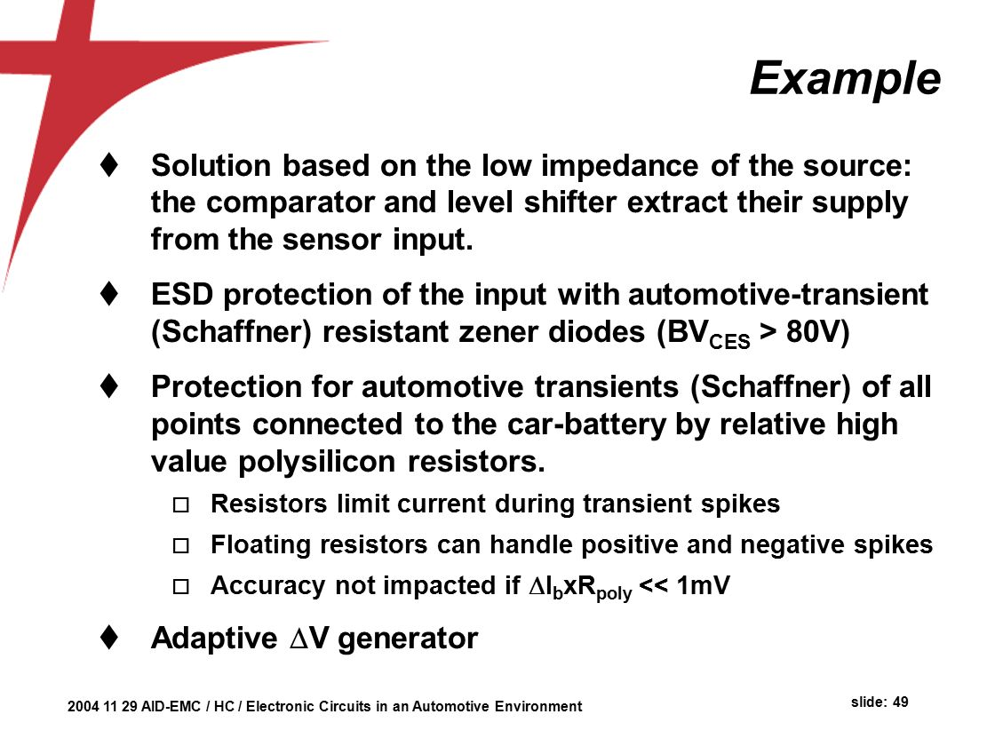 Automotive Environment Herman Casier Ami Semiconductor Belgium Ppt Car Battery Failure Detector The Circuit 49 Example