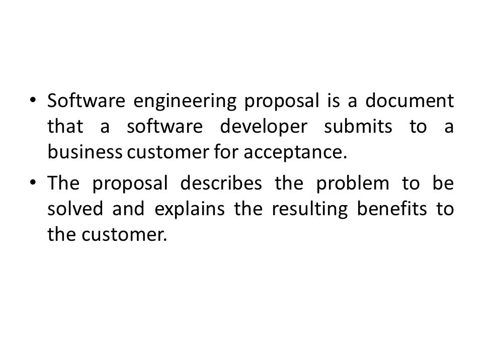 Writing A Software Project Proposal Ppt Video Online Download