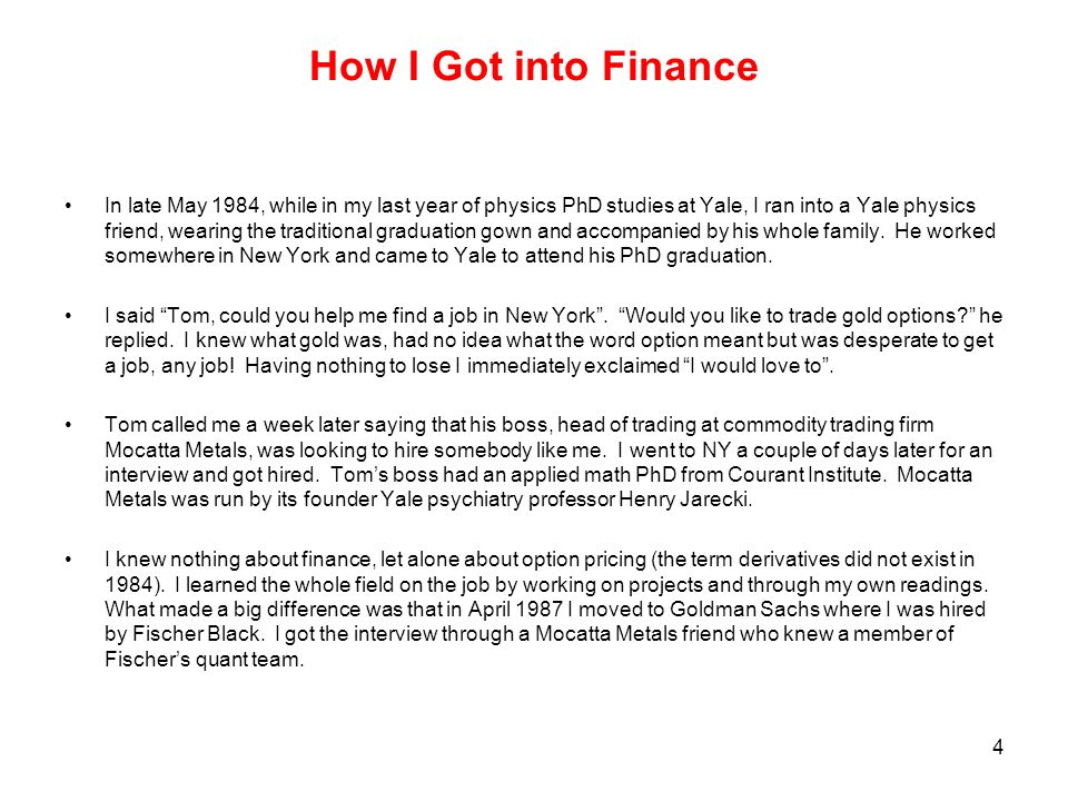From Physics to Finance - ppt download