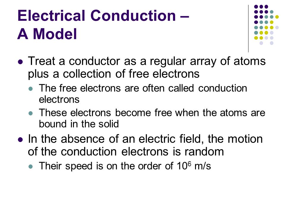 Electrical Conduction – A Model