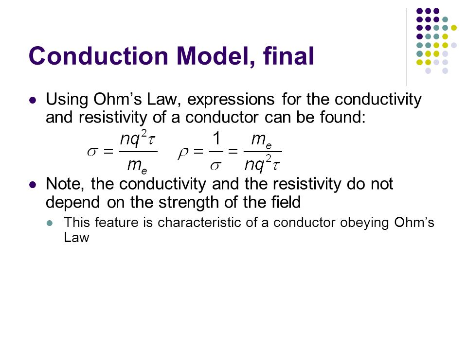 Conduction Model, final